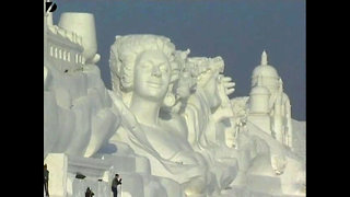 Huge Snow Sculptures - Video
