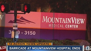Man dead after barricade situation at MountainView Hospital - Video