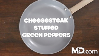 How to Make Cheesesteak Stuffed Green Peppers | MDelicious - Video
