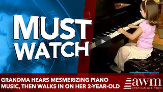 Grandma Hears Mesmerizing Piano Music, Then Walks In On Her 2-Year-Old - Video