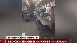 Rexnord dismantles machines inside plant - Video