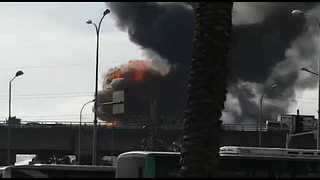 Large Fire Breaks Out at Oil Refinery in Haifa - Video