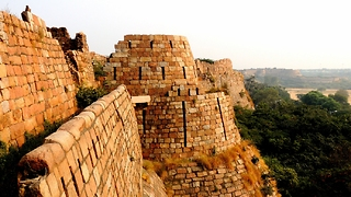 Ancient Tughlaqabad Fort in Delhi, India - Video