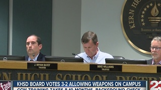 KHSD Explains New Gun Policy - Video