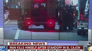 Man kills himself after standoff in El Cajon. - Video