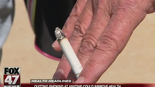 Quitting smoking at any time could improve health