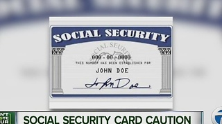 Social Security card caution
