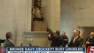 Davy Crockett Bust Unveiled At Capitol - Video