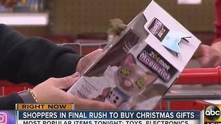 Uh-oh, last minute shoppers looking for gifts in packed stores! - Video