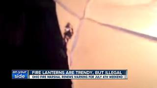 Beautiful, but dangerous: Fire officials issue warning about sky lanterns before 4th - Video
