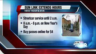 Sun Link extending hours for New Year's Eve - Video