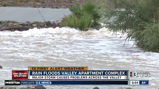 Rain causing flooding, leaking roofs - Video