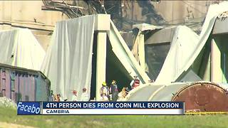 Fourth person dies from corn mill explosion - Video