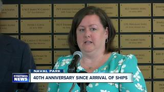 40th anniversary of Navy ships arrival in Buffalo - Video