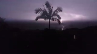 Lightning Storm Strikes South of Brisbane