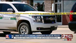 Suspect shot and killed by police in Sallisaw - Video