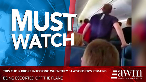 High School Choir Sees Fallen Soldier's Remains Being Escorted Off Plane, Breaks Into Hymn