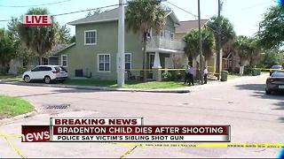 Juvenile dies after reportedly being shot by sibling in Bradenton - Video