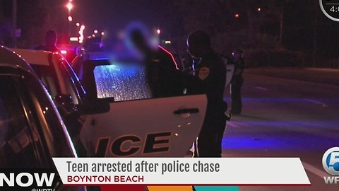 Teen arrested after police chase