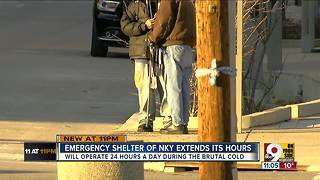 Emergency shelter in NKY extends its hours - Video