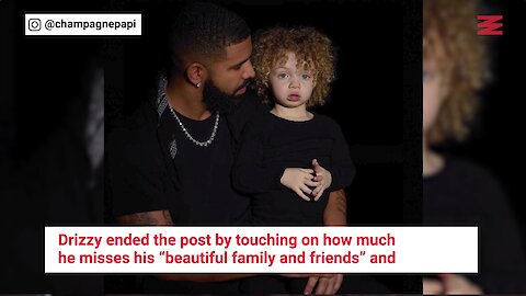 Drake Shares Photos Of His Son For The First Time With A Touching Message (PHOTOS)