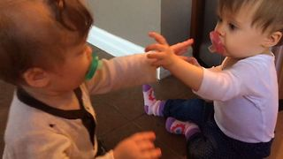 Cute Babies Pull A Switcharoo - Video