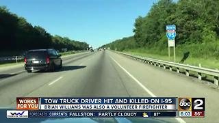 Perryville tow truck driver hit, killed along I-95 Sunday - Video