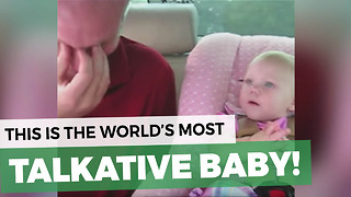 Dad Is Beside Himself When 8-Month-Old Opens Her Mouth, Films It So You You'll Believe Him - Video