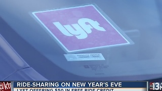 Lyft offering free rides on New Year's Eve