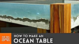 How to make an Ocean Table // Concrete and Epoxy Resin - Video
