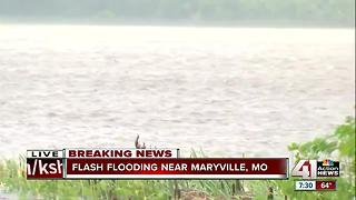 Fields covered in water in Maryville - Video
