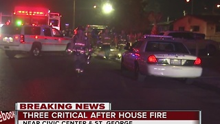3 people critical after North Las Vegas house fire - Video