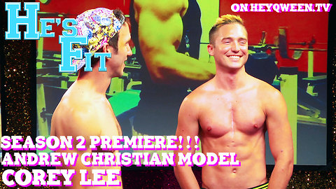 Andrew Christian Model Cory Lee on He's Fit!: Shirtless Fitness & Muscle Exploitation