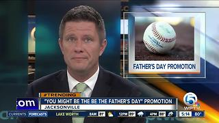 Minor league team in Florida pitches pregnancy tests for Father's Day - Video