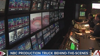 Behind-the-scenes: NBC production truck