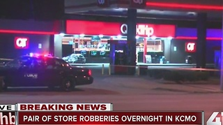 Police: 2 convenient stores in KCMO robbed at gunpoint overnight - Video