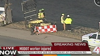 MoDOT worker injured - Video
