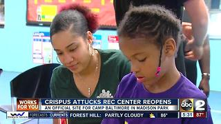 Crispus Attucks Recreation Center reopens in West Baltimore - Video