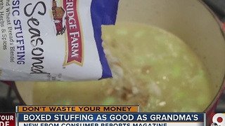 These boxed stuffings might fool your Thanksgiving guests - Video