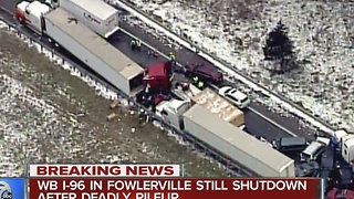 Deadly accident keeps I-96 closed for 12 hours - Video