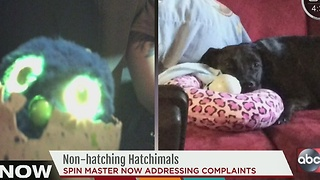Defective Hatchimals leave kids, parents upset - Video