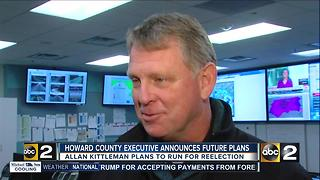 Howard County Executive Allan Kittleman announces re-election - Video