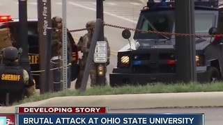 Brutal attack at Ohio State University - Video