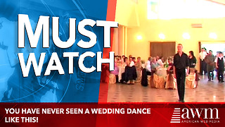 Wedding Guests Amazed By First Dance - Video