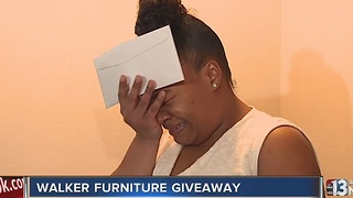 Single mom of four receives house full of furniture - Video