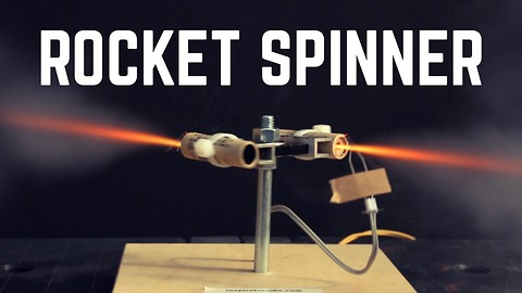 DIY Rocket Powered Fidget Spinner