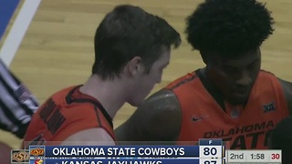 #2 Kansas beats Oklahoma State, 87-80 - Video