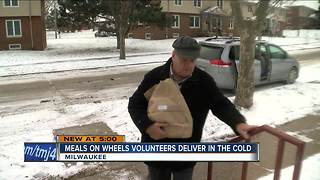 Meals on Wheels volunteers continue through bitterly cold weather