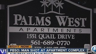 PBSO: Man shot at apartment complex in suburban West Palm Beach - Video