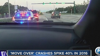 'Move Over' crashes spike 40% in 2016 - Video